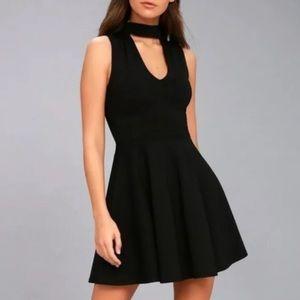 Lulus Fit & Flare Open Front Dress
